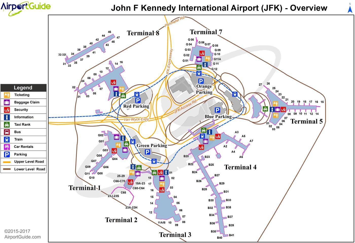 Aeroporto York : Newark aeroporto mapa newark nj aeroporto mapa nova york eua